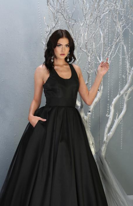 Rochie France Mode M1721 neagra lunga de seara princess [1]