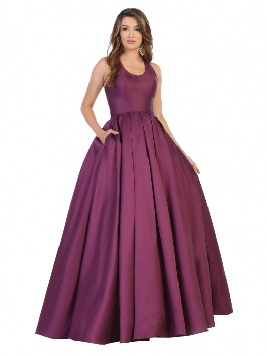 Rochie France Mode M1721 violet lunga de seara princess 0