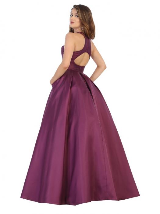 Rochie France Mode M1721 violet lunga de seara princess 1
