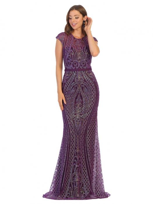 Rochie France Mode M1722 violet lunga de seara mulata 0