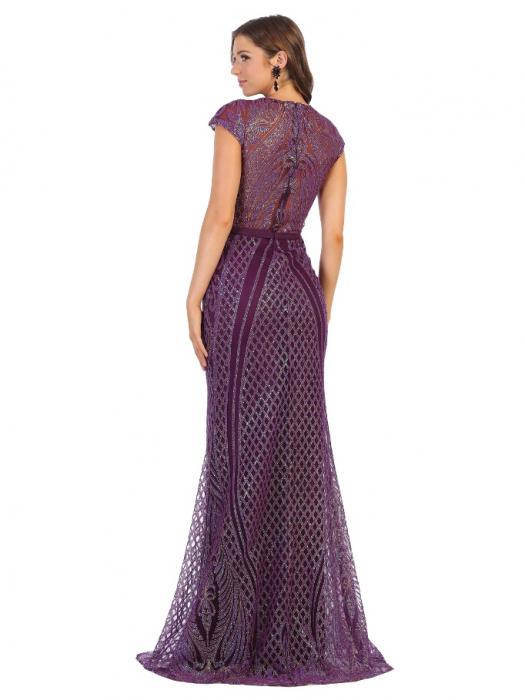 Rochie France Mode M1722 violet lunga de seara mulata 1