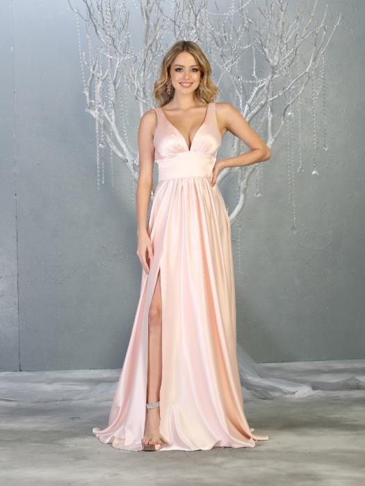 Rochie France Mode M1723 roz lunga de seara clos 0