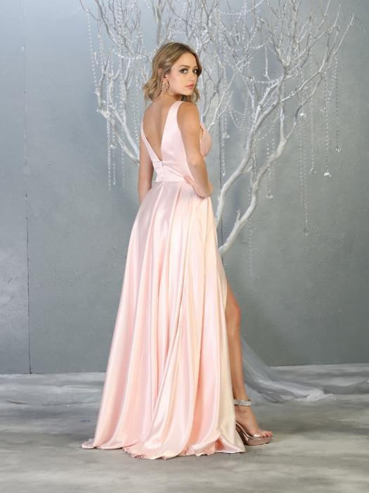 Rochie France Mode M1723 roz lunga de seara clos 2