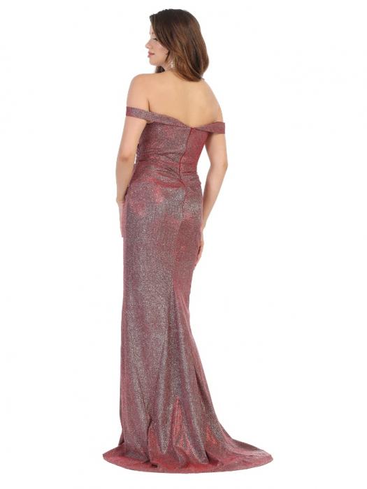 Rochie France Mode M1724 rosie lunga de seara mulata 2