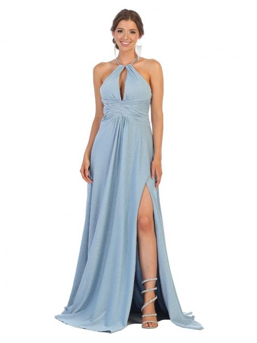 Rochie France Mode M1729 bleu lunga de seara clos 0