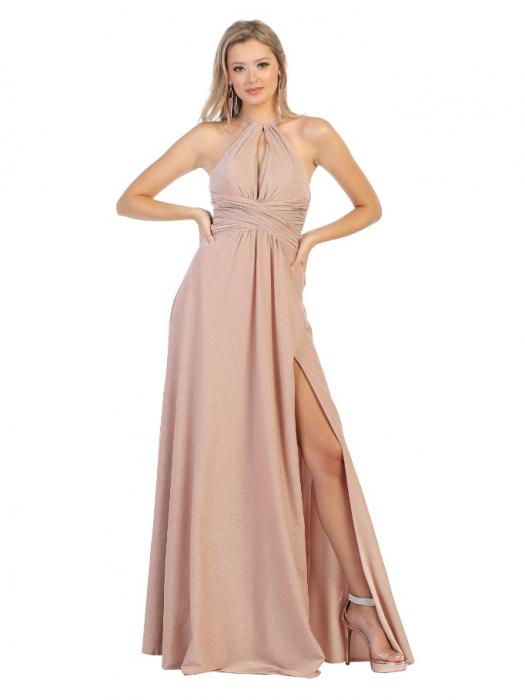 Rochie France Mode M1729 roz lunga de seara clos 0