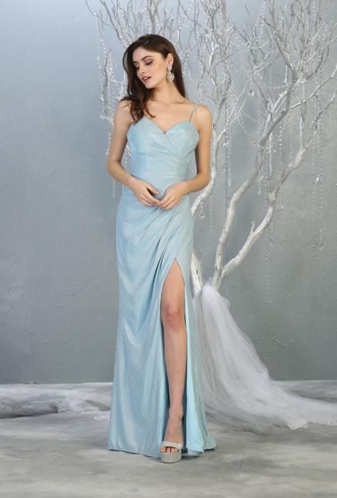 Rochie France Mode M1730 bleu lunga de seara mulata 0