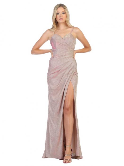 Rochie France Mode M1730 roz lunga de seara mulata 0