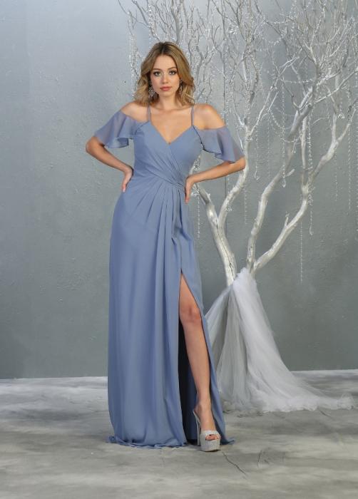 Rochie France Mode M1732 bleu lunga de seara clos 0