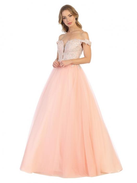 Rochie France Mode M1734 roz lunga de seara princess 0