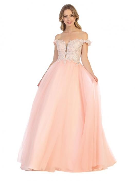 Rochie France Mode M1734 roz lunga de seara princess 1