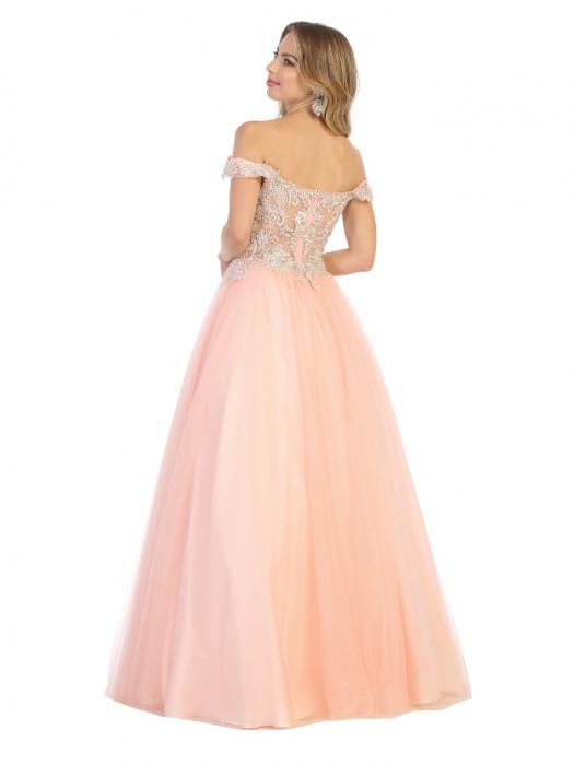 Rochie France Mode M1734 roz lunga de seara princess 2