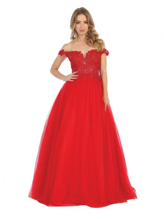 Rochie France Mode M1734 rosie lunga de seara princess 0