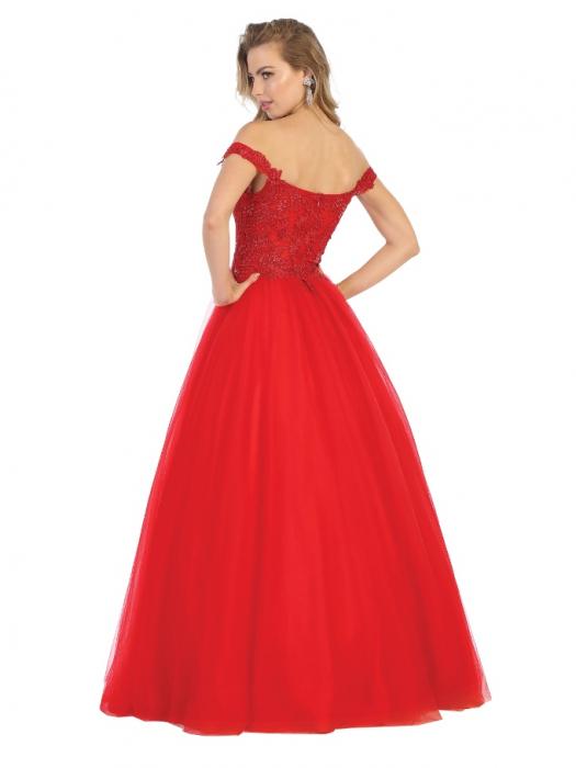 Rochie France Mode M1734 rosie lunga de seara princess 1