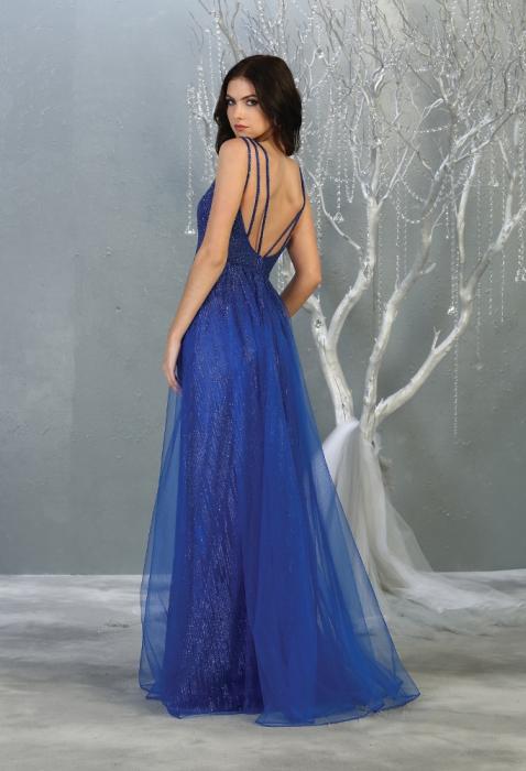 Rochie France Mode M1735 albastra lunga de seara clos [1]