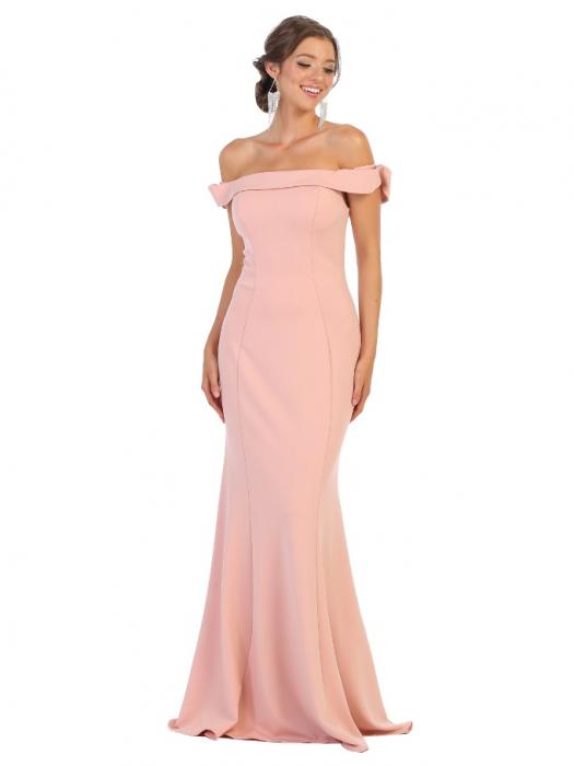Rochie France Mode M1739 roz lunga de seara mulata 0