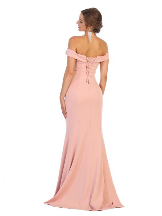 Rochie France Mode M1739 roz lunga de seara mulata 1