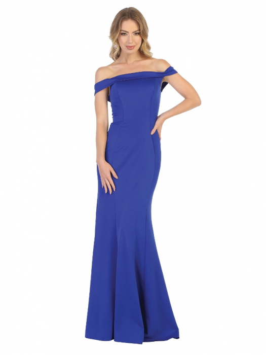 Rochie France Mode M1739 albastra lunga de seara mulata 0