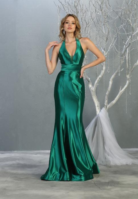 Rochie France Mode M1740 verde lunga de seara sirena [0]