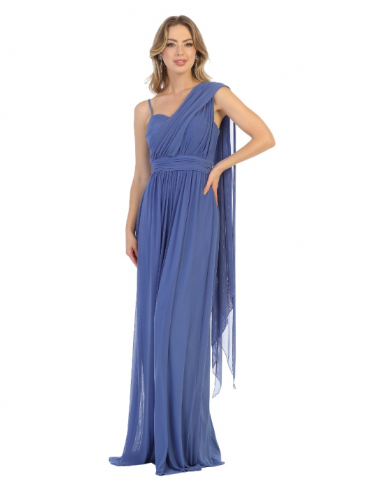 Rochie France Mode M1746 bleu lunga de seara clos [0]