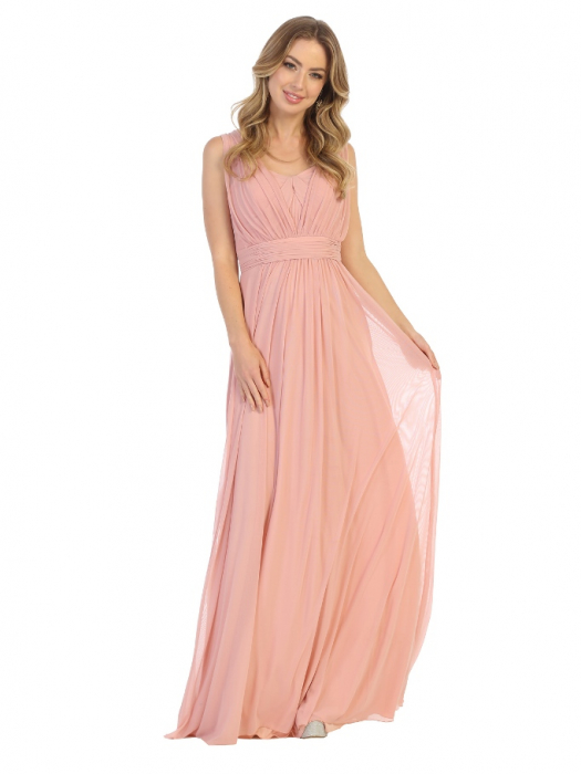 Rochie France Mode M1746 roz lunga de seara clos 0