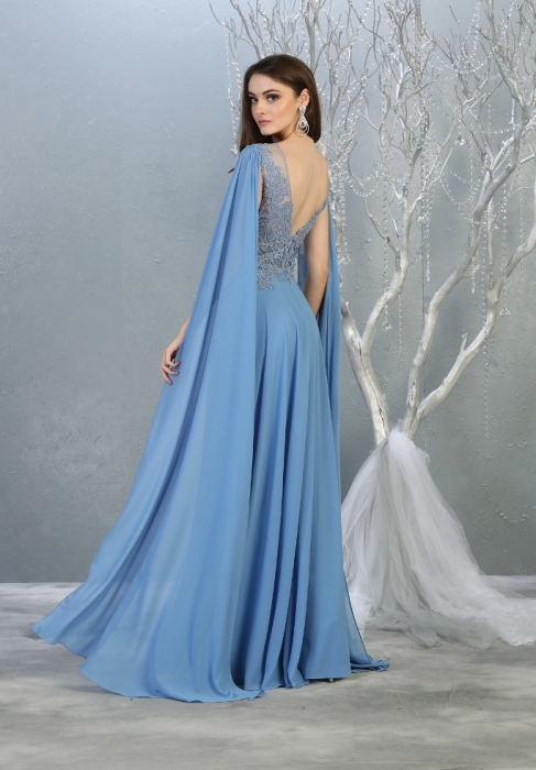 Rochie France Mode M1749 bleu lunga de seara clos 1