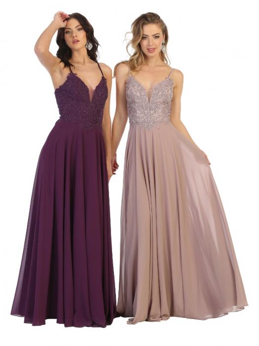 Rochie France Mode M1750 violet lunga de seara clos 0