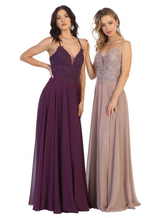 Rochie France Mode M1750 violet lunga de seara clos 1