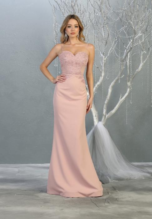 Rochie France Mode M1759 roz lunga de seara sirena 1