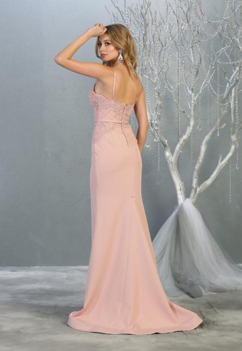 Rochie France Mode M1759 roz lunga de seara sirena 2