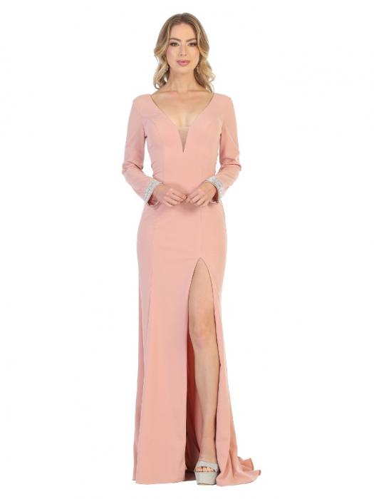 Rochie France Mode M1761 roz lunga de seara mulata [0]