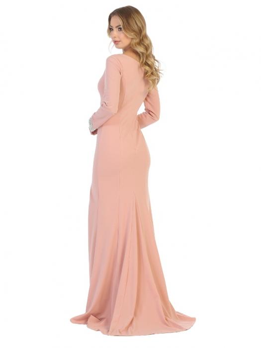 Rochie France Mode M1761 roz lunga de seara mulata [1]