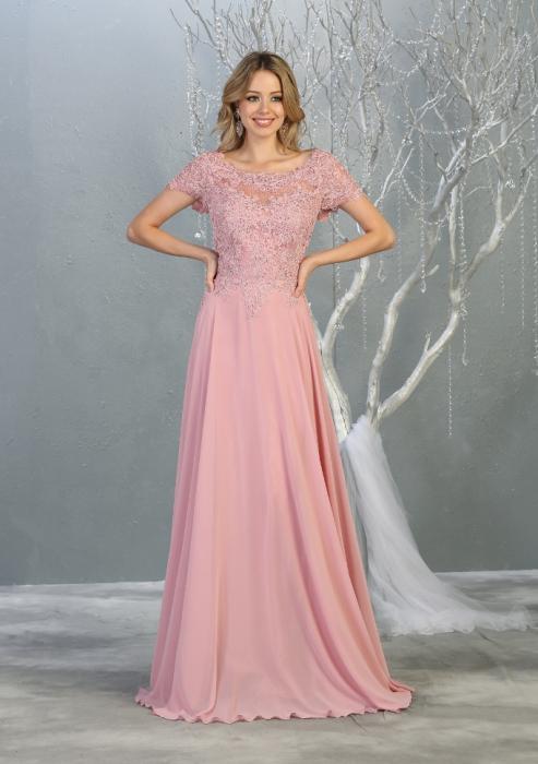 Rochie France Mode M1763 roz lunga de seara clos [0]