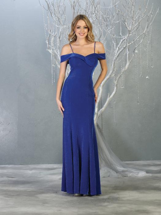 Rochie France Mode M1767 albastra lunga de seara mulata 0