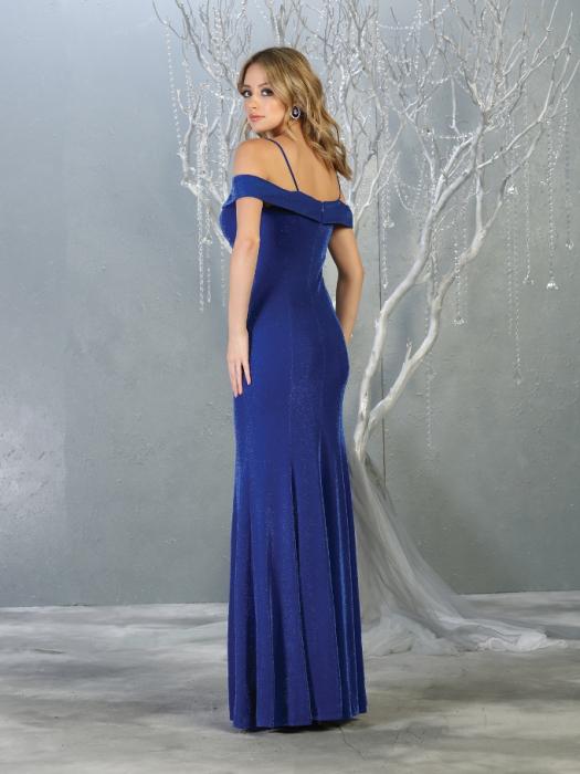 Rochie France Mode M1767 albastra lunga de seara mulata 1