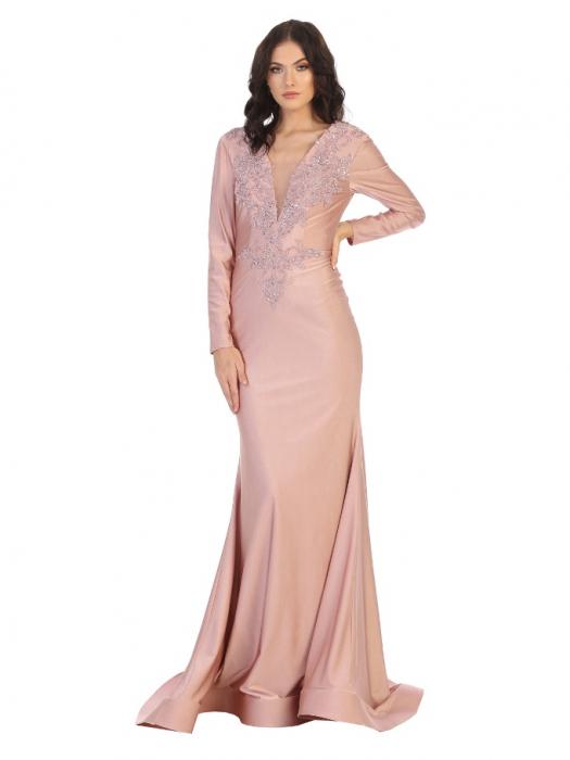 Rochie France Mode M1772 roz lunga de seara sirena 0
