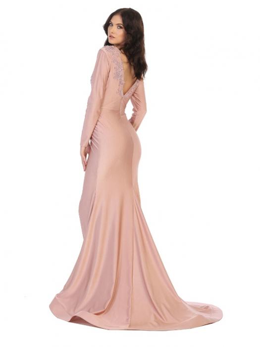Rochie France Mode M1772 roz lunga de seara sirena 1