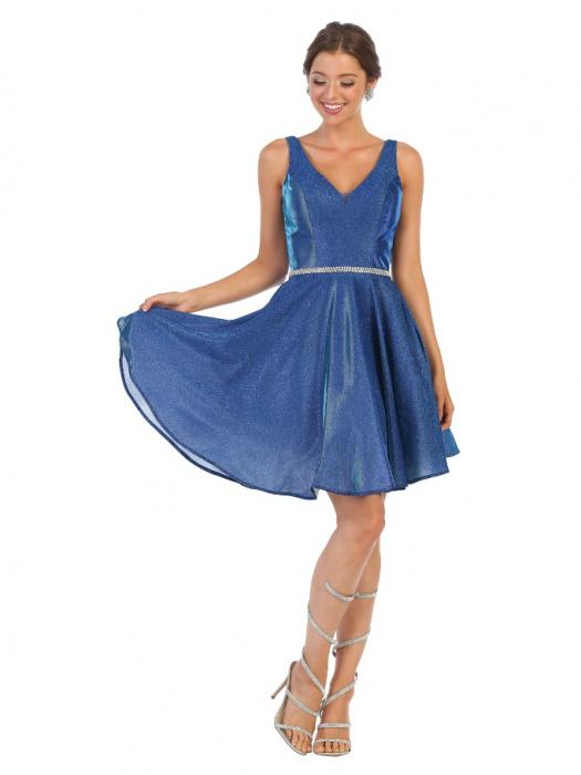 Rochie France Mode M1777 albastra scurta de ocazie baby doll [0]