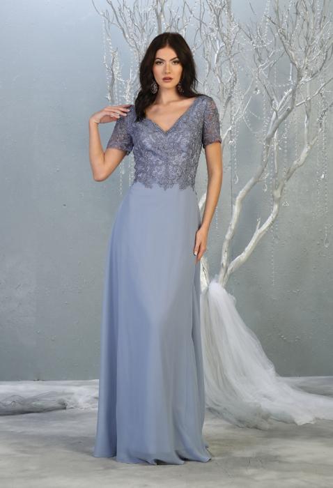 Rochie France Mode M1782 bleu lunga de seara clos 0