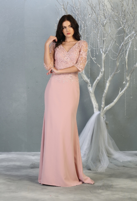 Rochie France Mode M1783 roz lunga de seara mulata [0]