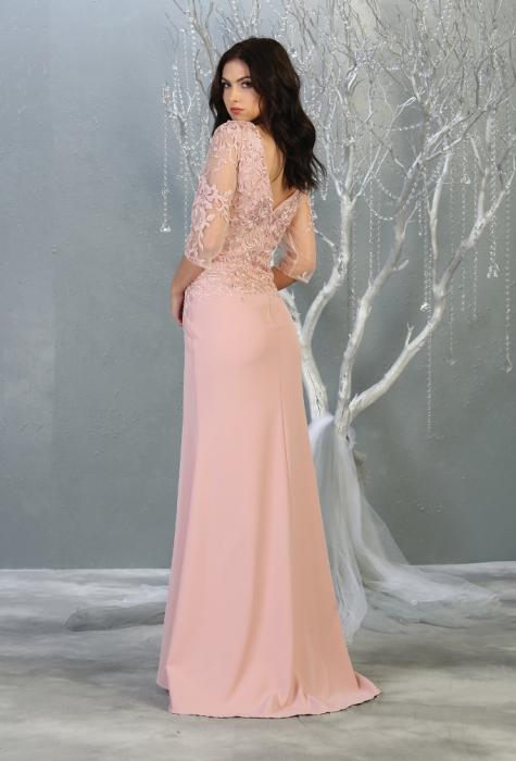 Rochie France Mode M1783 roz lunga de seara mulata [1]