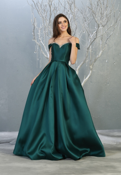 Rochie France Mode M1784 verde lunga de seara princess 0