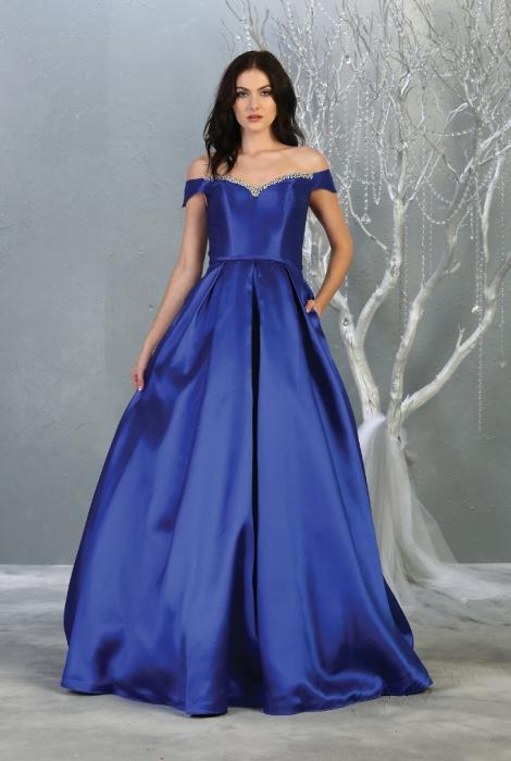 Rochie France Mode M1784 albastra lunga de seara princess [0]