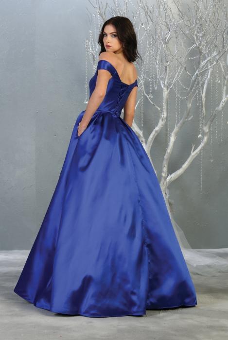 Rochie France Mode M1784 albastra lunga de seara princess [1]