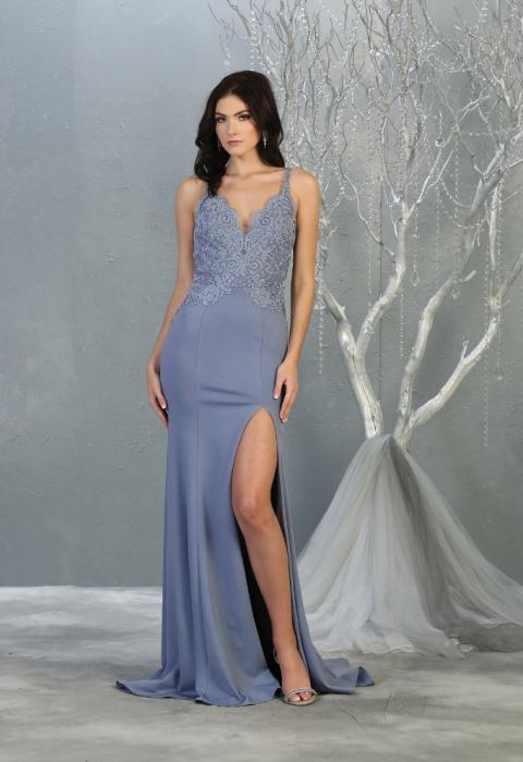 Rochie France Mode M1792 bleu lunga de seara mulata [0]