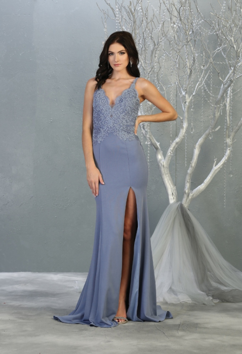 Rochie France Mode M1792 bleu lunga de seara mulata [1]