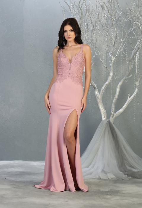 Rochie France Mode M1792 roz lunga de seara mulata [0]