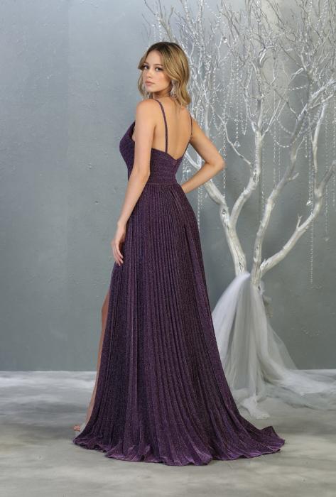 Rochie France Mode M1795 violet lunga de seara clos [2]