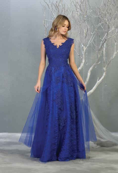 Rochie France Mode M1799 albastra lunga de seara clos [0]