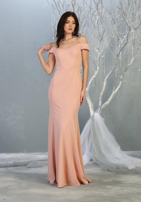 Rochie France Mode M1807 roz lunga de seara mulata [1]